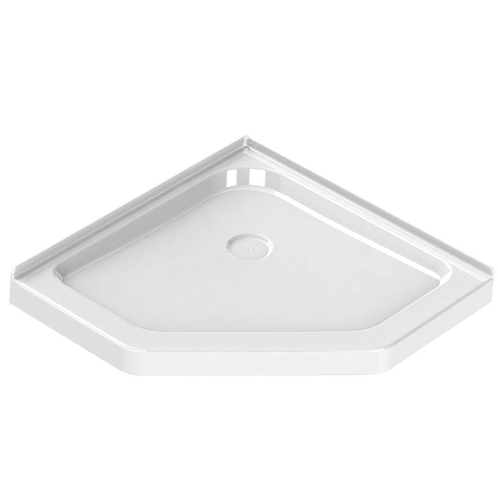 MAAX 36 in. x 36 in. Single Threshold Neo-Angle Shower Base in White ...