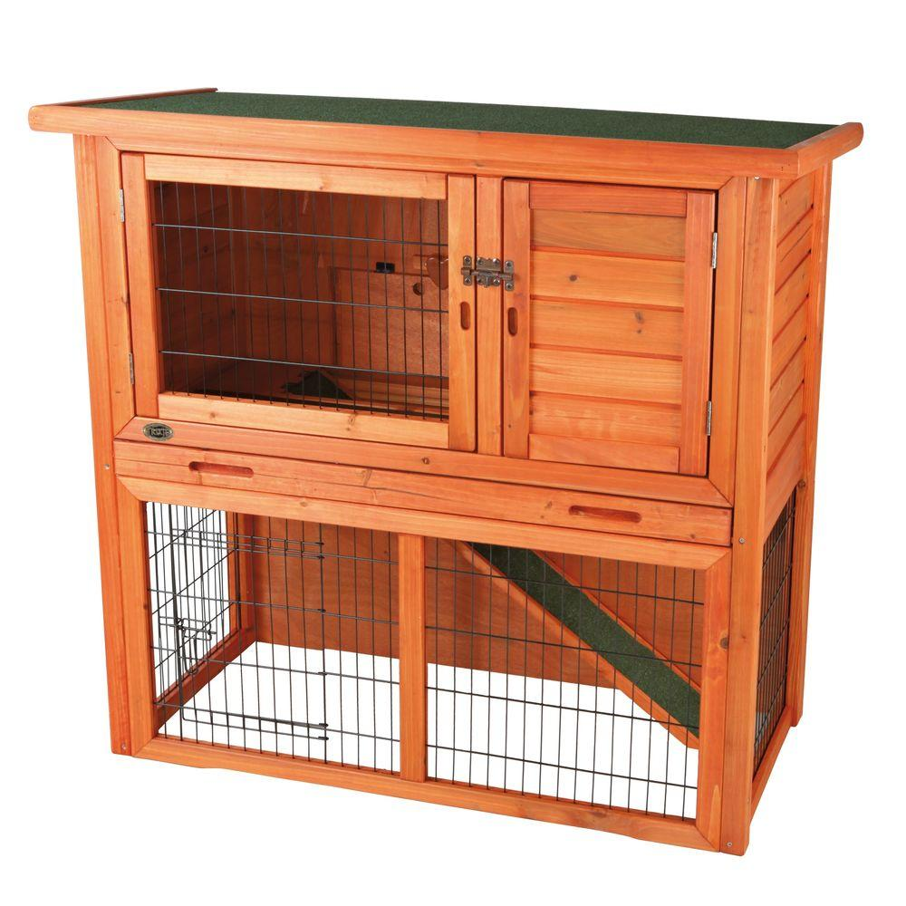 Trixie 4 Ft X 2 Ft X 3 Ft Rabbit Hutch With Sloped Roof 62302