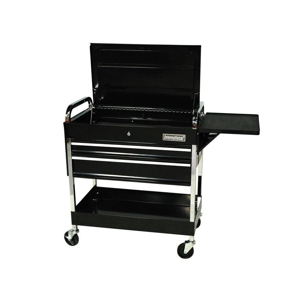 International 30 in. 2-Drawer Mechanic's Cart, Black
