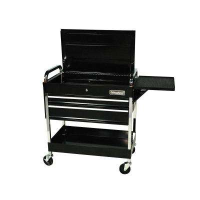 30 in. 2-Drawer Mechanic's Utility Cart in Black