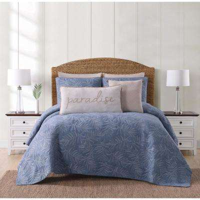 Chambray Coast Blue King Quilt Set