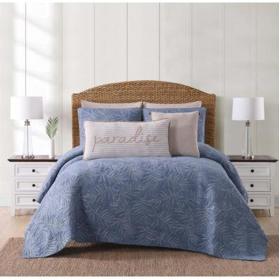 Chambray Coast Blue Twin XL Quilt Set
