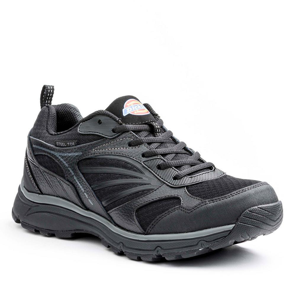 Stride Men Size 13 Black Leather/Mesh Safety Work Shoe