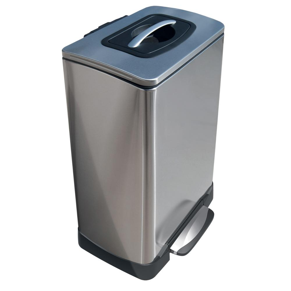 Household Essentials 10 Gal. TK Krusher Step Bin with Sof...