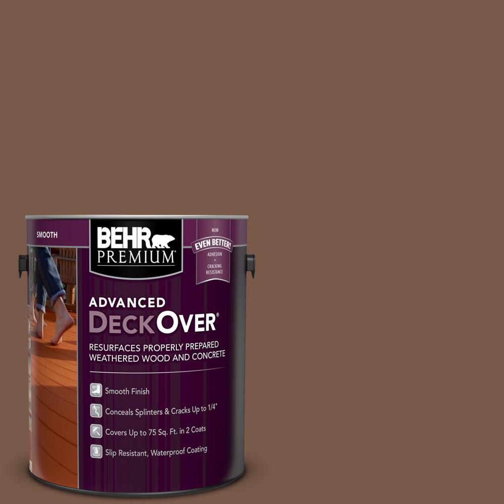 BEHR PREMIUM ADVANCED DECKOVER 1 gal. #SC-135 Sable Smooth Solid Color Exterior Wood and Concrete Coating