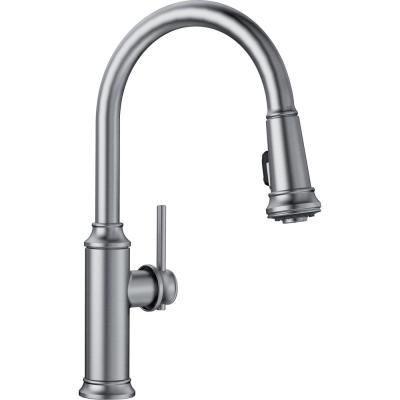 EMPRESSA Single-Handle Pull-Down Sprayer Kitchen Faucet in Stainless