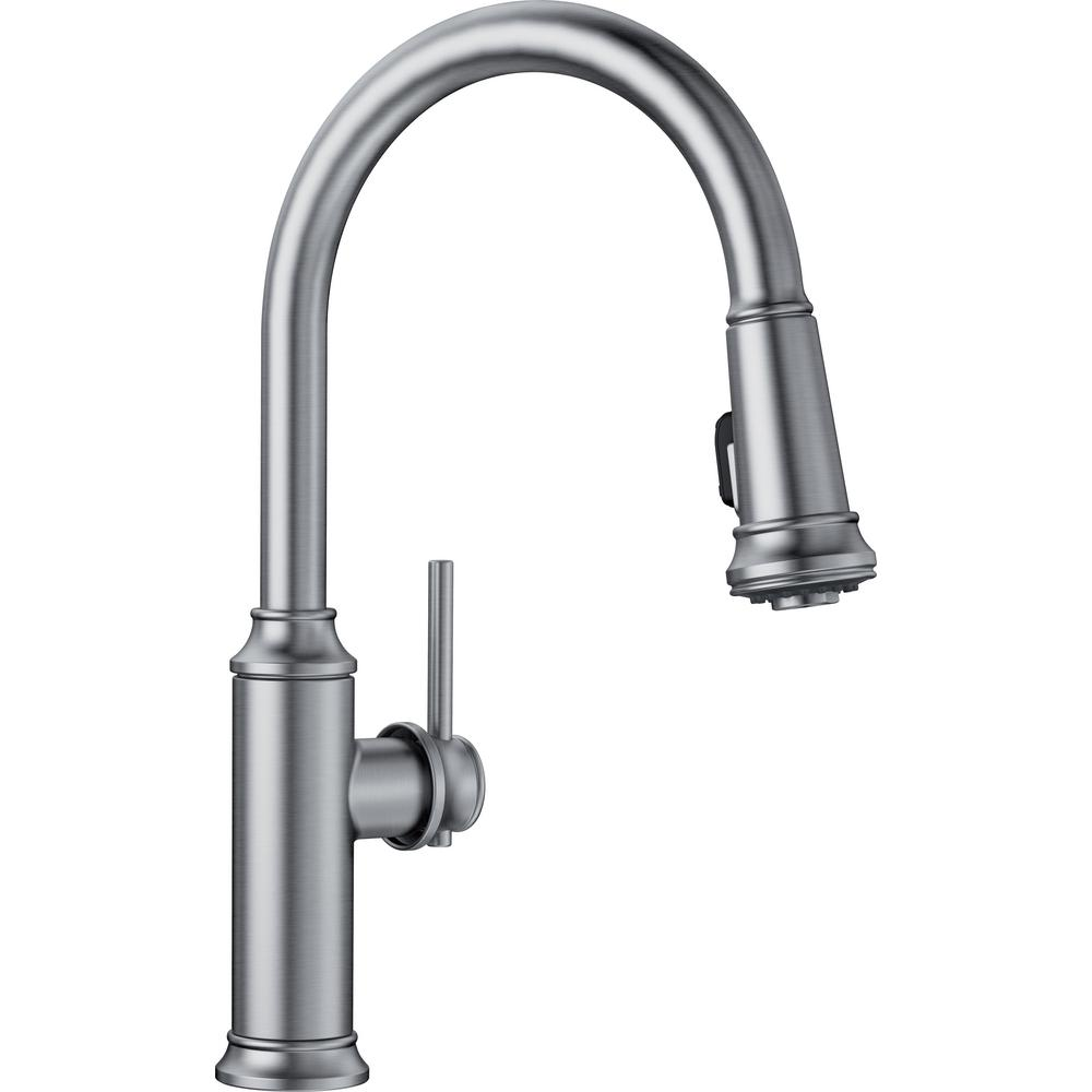 Blanco EMPRESSA Single-Handle Pull-Down Sprayer Kitchen Faucet in Stainless
