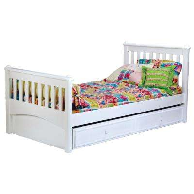 Mission White Twin Bed