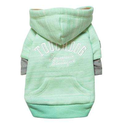 Medium Green Hampton Beach Designer Ultra Soft Sand-Blasted Cotton Pet Dog Hoodie Sweater