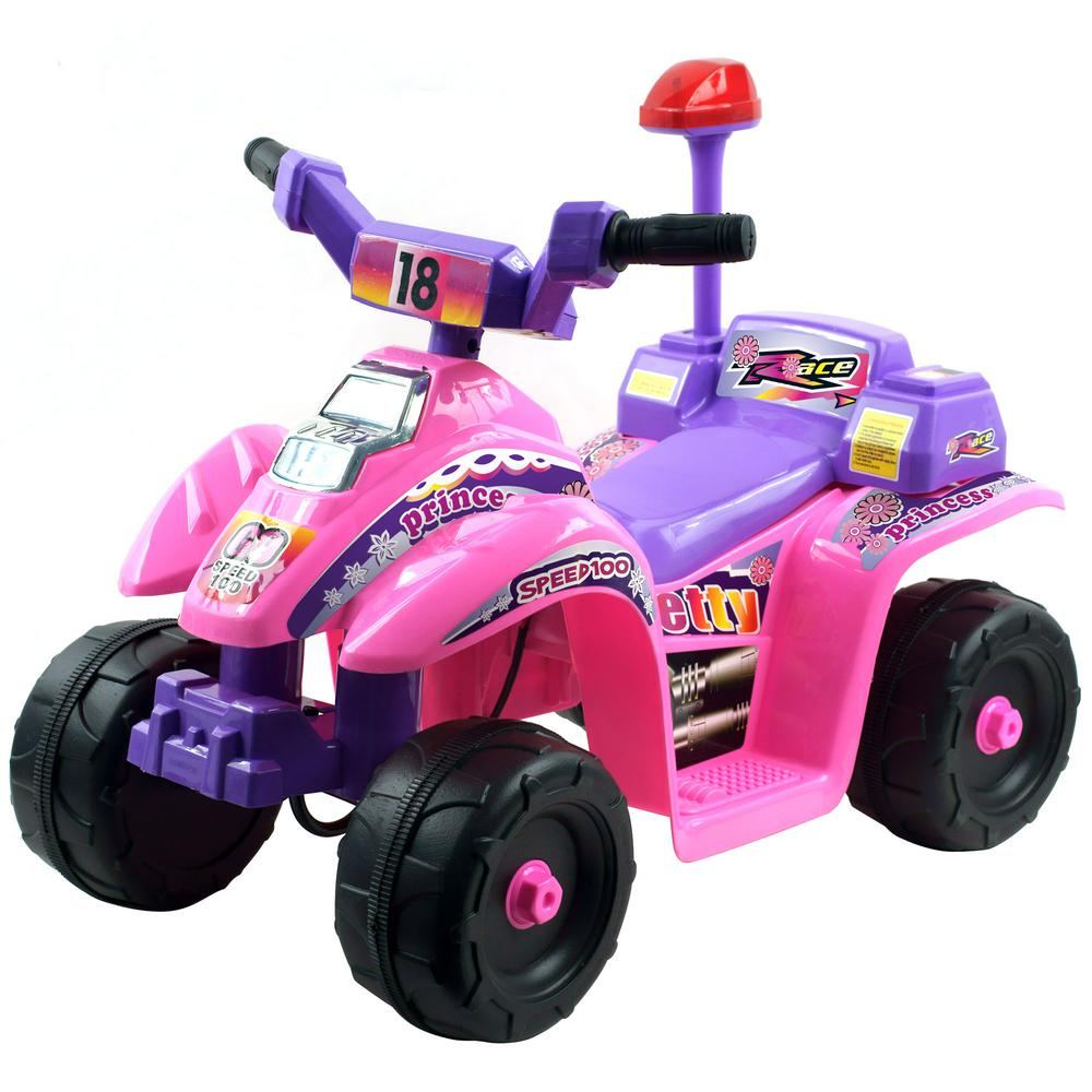 Battery Operated Ride On Toys >> Lil Rider Battery Powered Ride On Toy 4 Wheeler In Pink