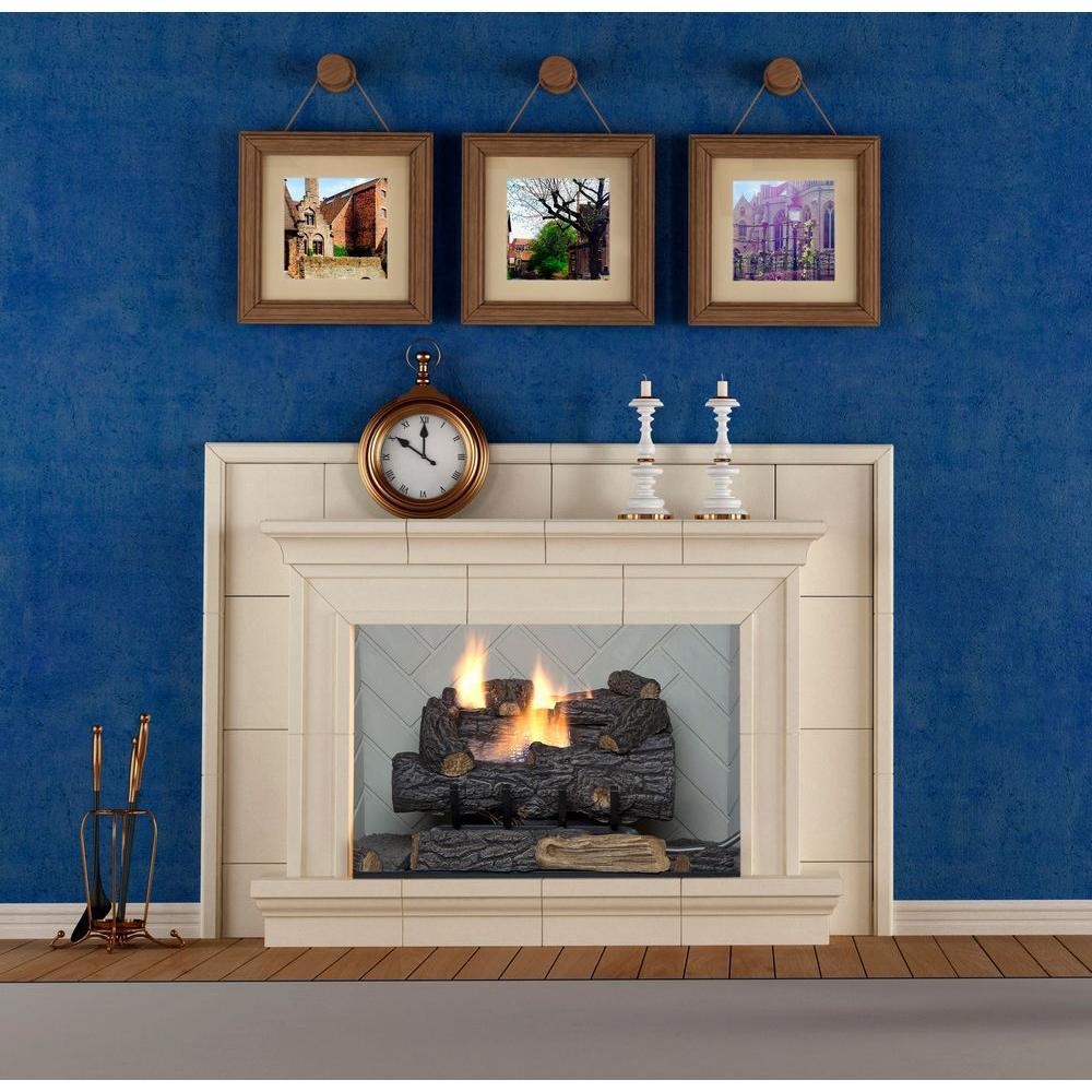 Savannah Oak 18 In Vent Free Natural Gas Fireplace Logs W