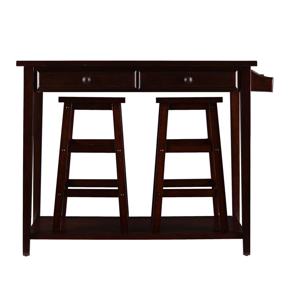 Southern Enterprises Felton 3 Piece Espresso Bar Table Set