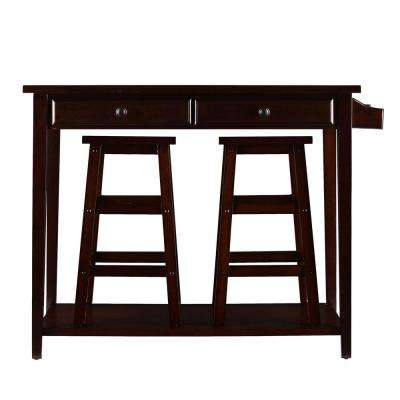 Felton 3-Piece Espresso Bar Table Set
