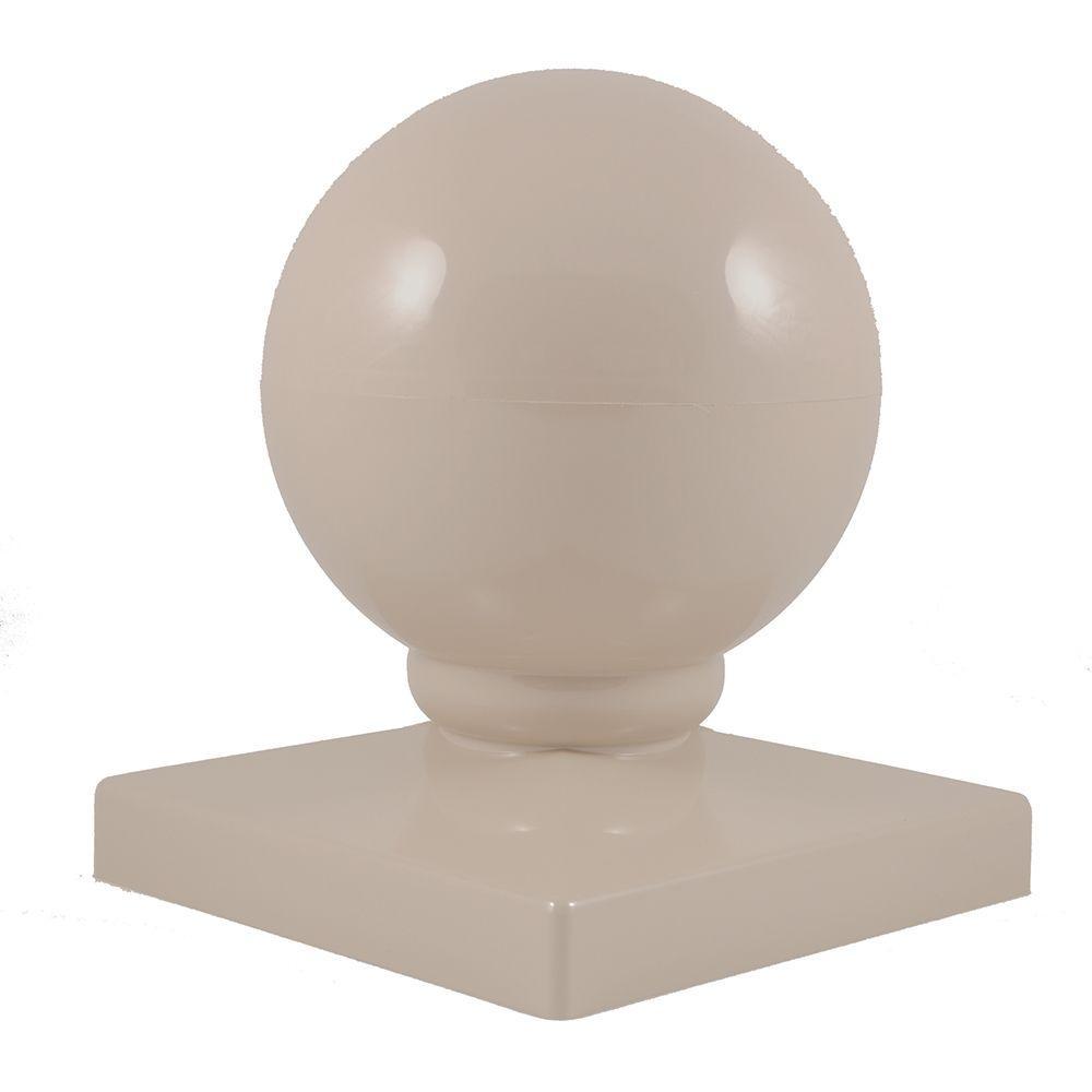 5 in. x 5 in. Khaki Vinyl Ball Post Cap