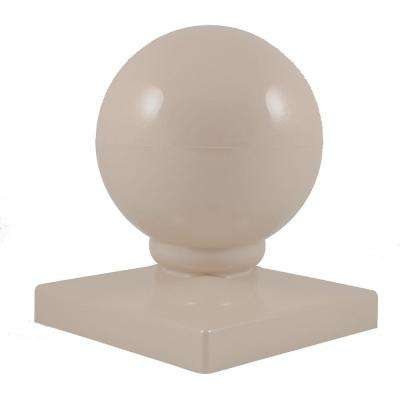4 in. x 4 in. Khaki Vinyl Ball Post Cap