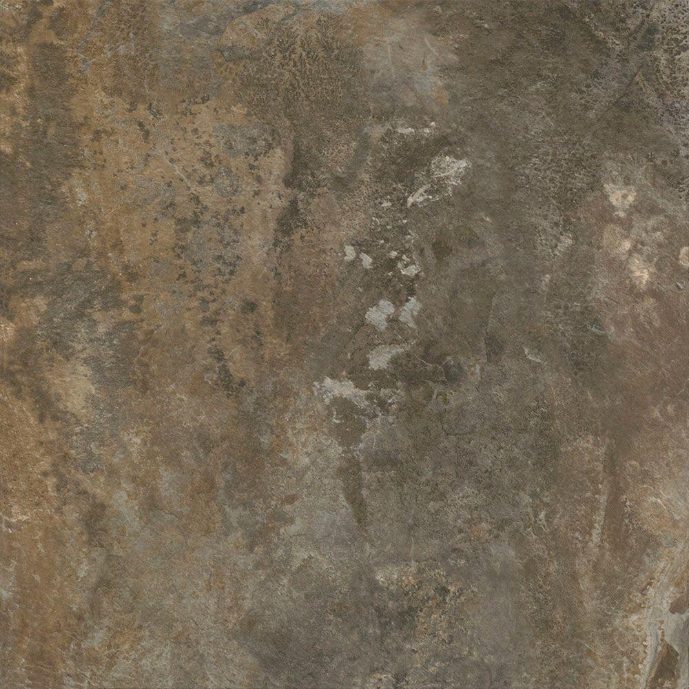 Trafficmaster Dark Grey Slate 12 In X 12 In Peel And