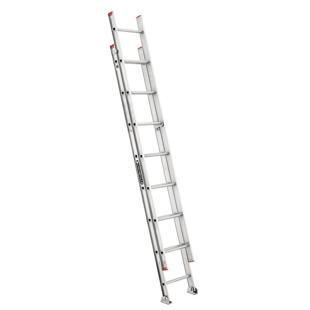 16 ft. Aluminum Extension Ladder with 200 lbs. Load Capacity Type