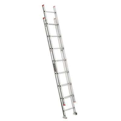 16 ft. Aluminum Extension Ladder with 200 lbs. Load Capacity Type III Duty Rating