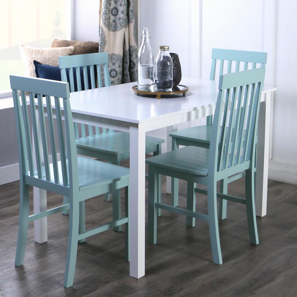 Walker Edison Furniture Company Greyson 5-Piece White and Sage ...