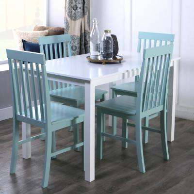 Greyson 5-Piece White and Sage Dining Set