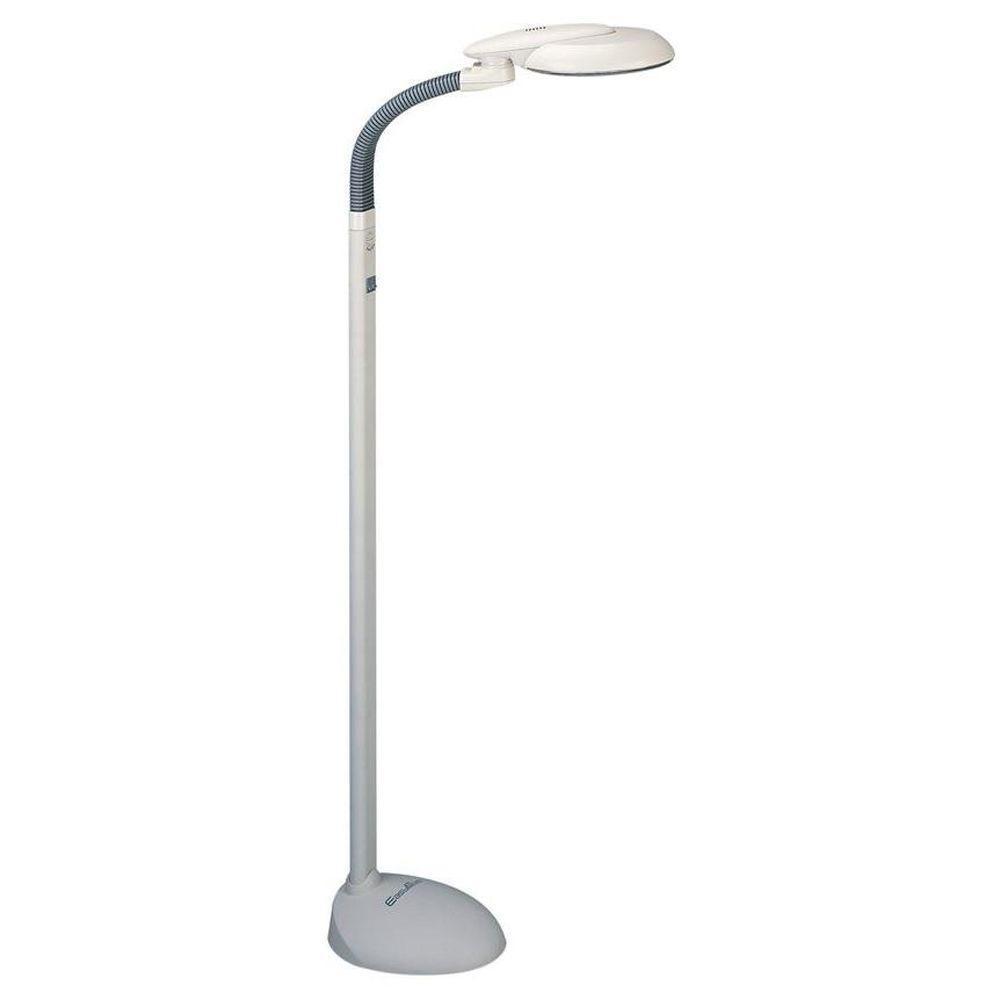EasyEye 48 in. 4 Tube Bulb White Floor Lamp with Ionizer