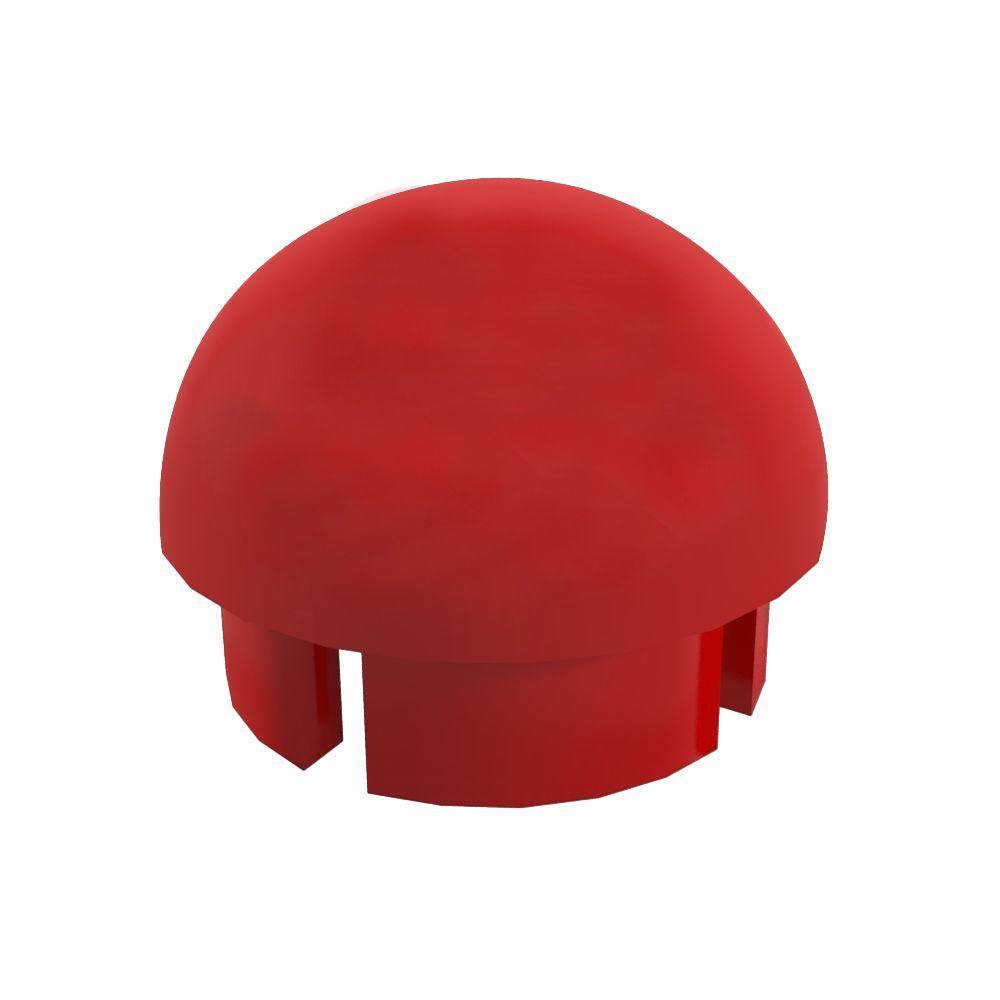 1-1/4 in. Furniture Grade PVC Internal Ball Cap in Red (10-Pack)
