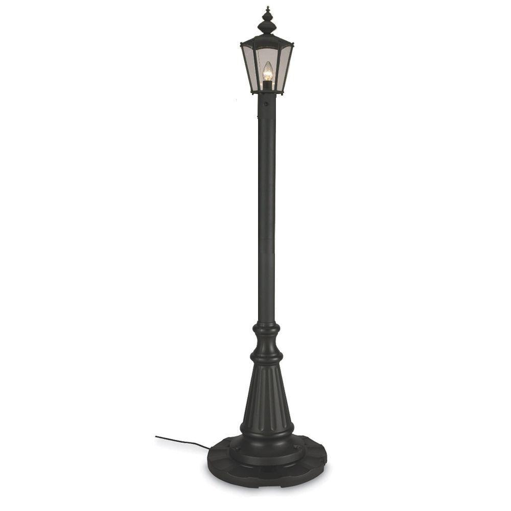 Patio Living Concepts Black Cambridge Single Lantern Patio Lamp