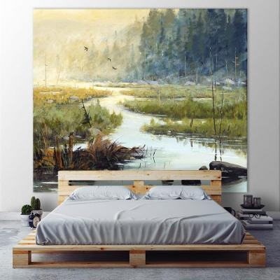 """72 in. x 84 in. """"Un matin  Salzbourg"""" by Yvon Lemieux Printed Framed Canvas Wall Art"""