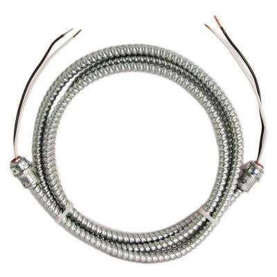 12/2 x 8 ft. Solid CU BX/AC (Duraclad) Armored Steel Cable Whip