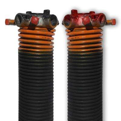0.273 in. Wire x 2 in. D x 38 in. L Torsion Springs in Orange Left and Right Wound Pair for Sectional Garage Door