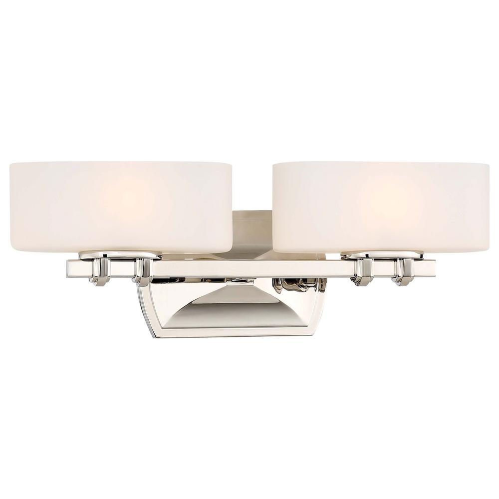 Drury 2-Light Polished Nickel Bath Light