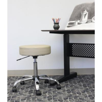 WorkPro Medical Stool. Beige Vinyl. High Density Foam. Chrome Finish Base. Pneumatic Lift