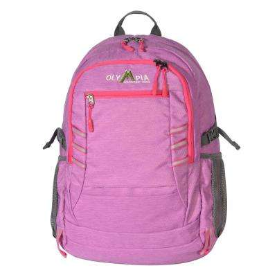 Woodsman 25L 19 in. Purple and Pink Outdoor Backpack with Laptop Compartment