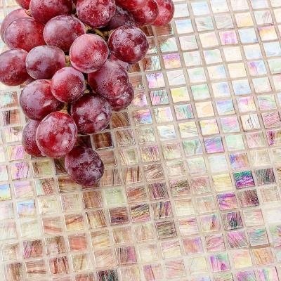 Breeze Plum 12-3/4 in. x 12-3/4 in. x 6 mm Glass Mosaic Tile