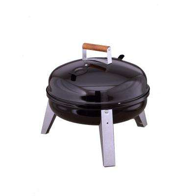 The Wherever Portable Dual Fuel Electric and Charcoal Grill in Black