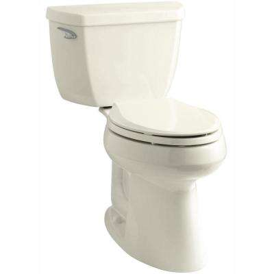 Highline Classic Comfort Height 10 in. Rough-In 2-Piece 1.28 GPF Single Flush Elongated Toilet in Biscuit