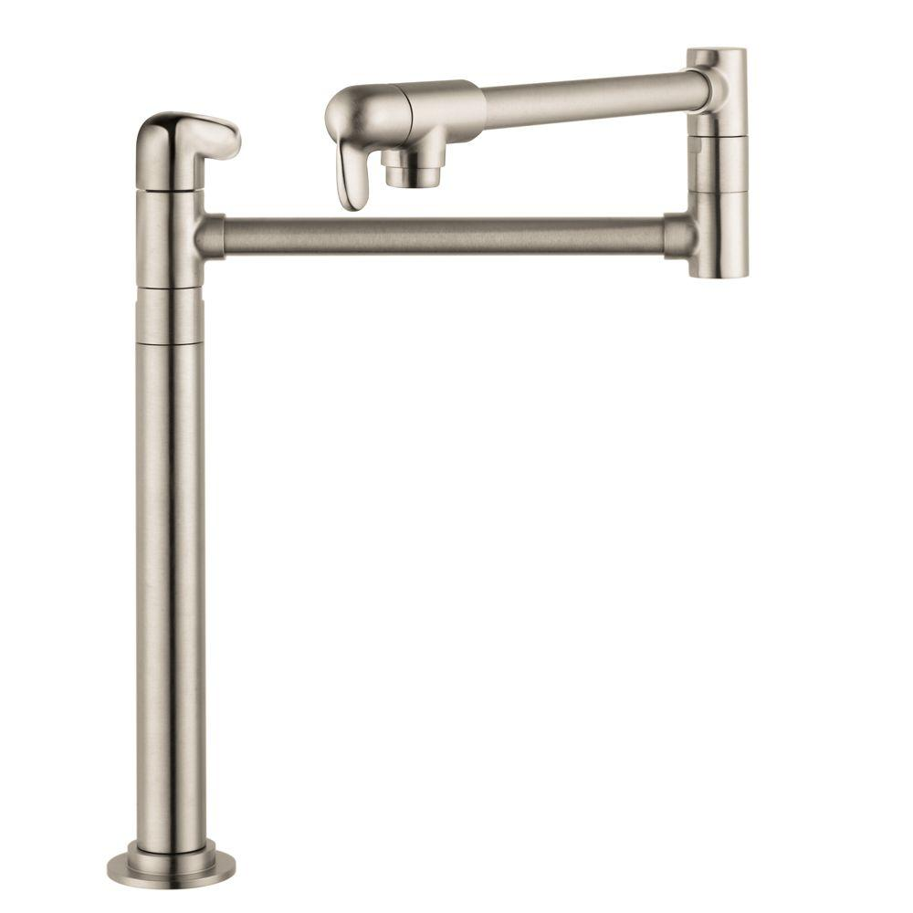 Hansgrohe Allegro E Deck Mounted Potfiller in Steel Optik