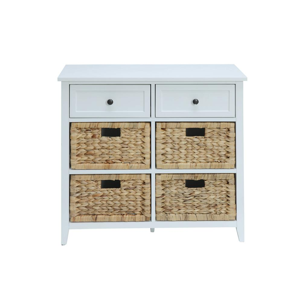 Acme Furniture Flavius White 6 Drawers Accent Chest