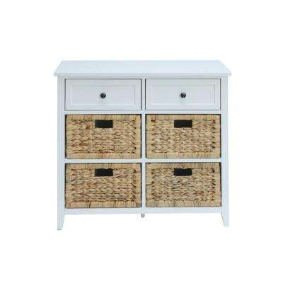 Flavius White 6 Drawers Accent Chest
