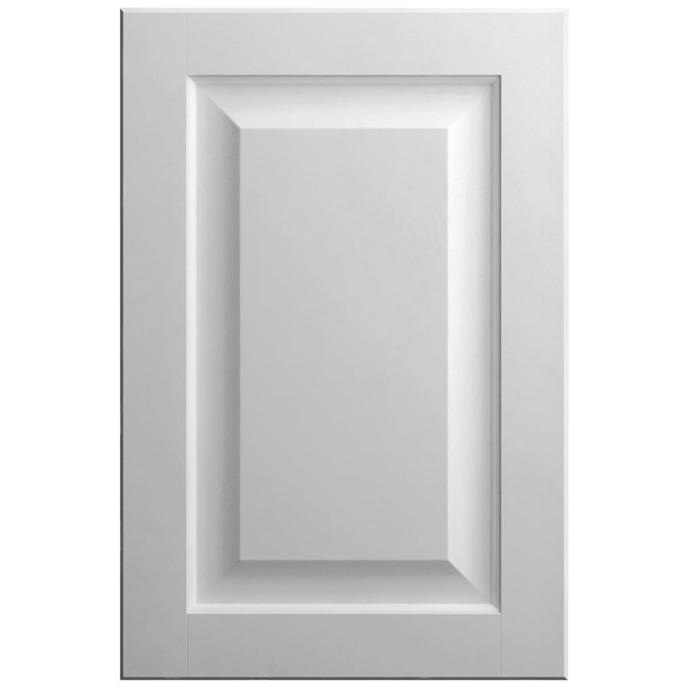 11x15 in. Gretna Cabinet Door Sample in Bright White