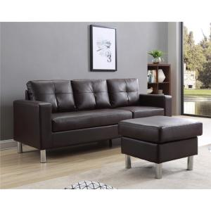 Brown Small Space Convertible Sectional Sofa 73030-40BR ...