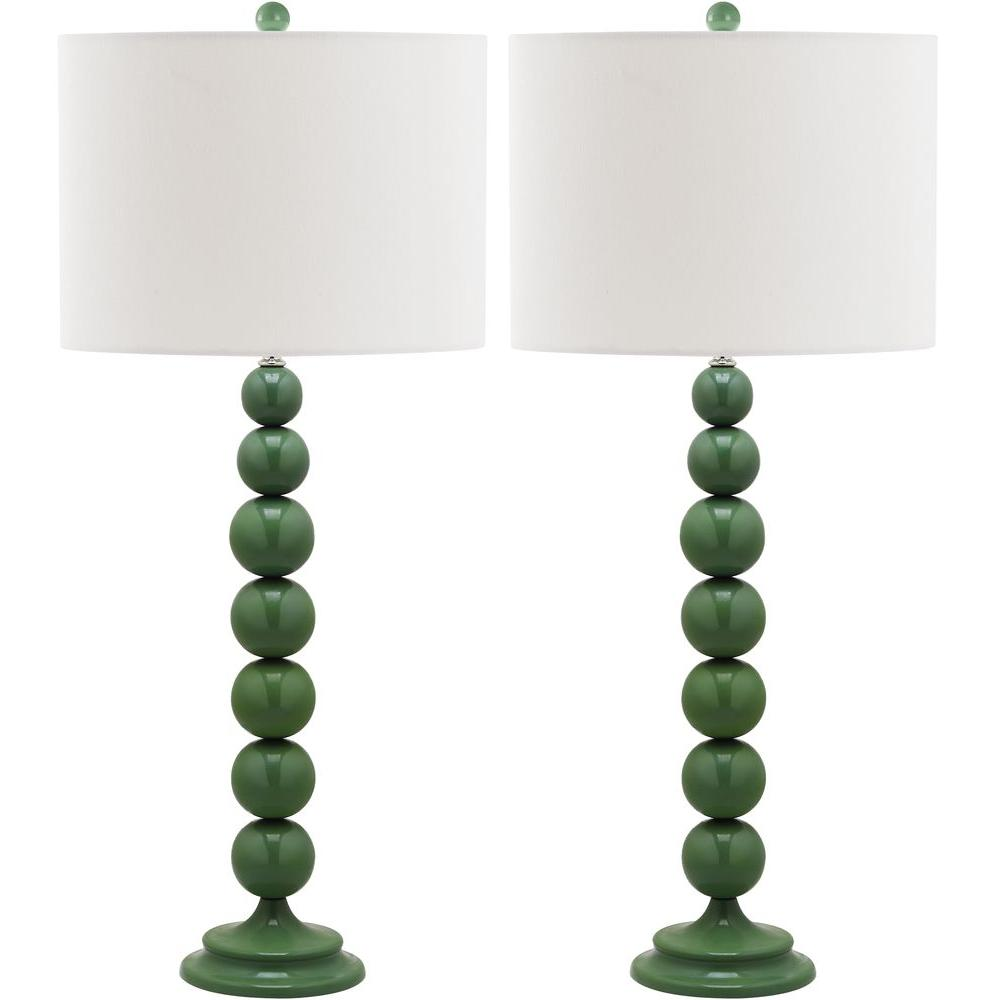 Jenna 31 in. Marine Blue Stacked Ball Lamp (Set of 2)