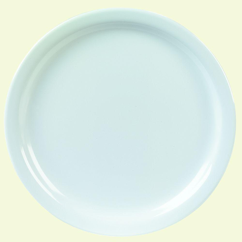 9 in. Diameter, 0.77 in. H Melamine Dinner Plate in White