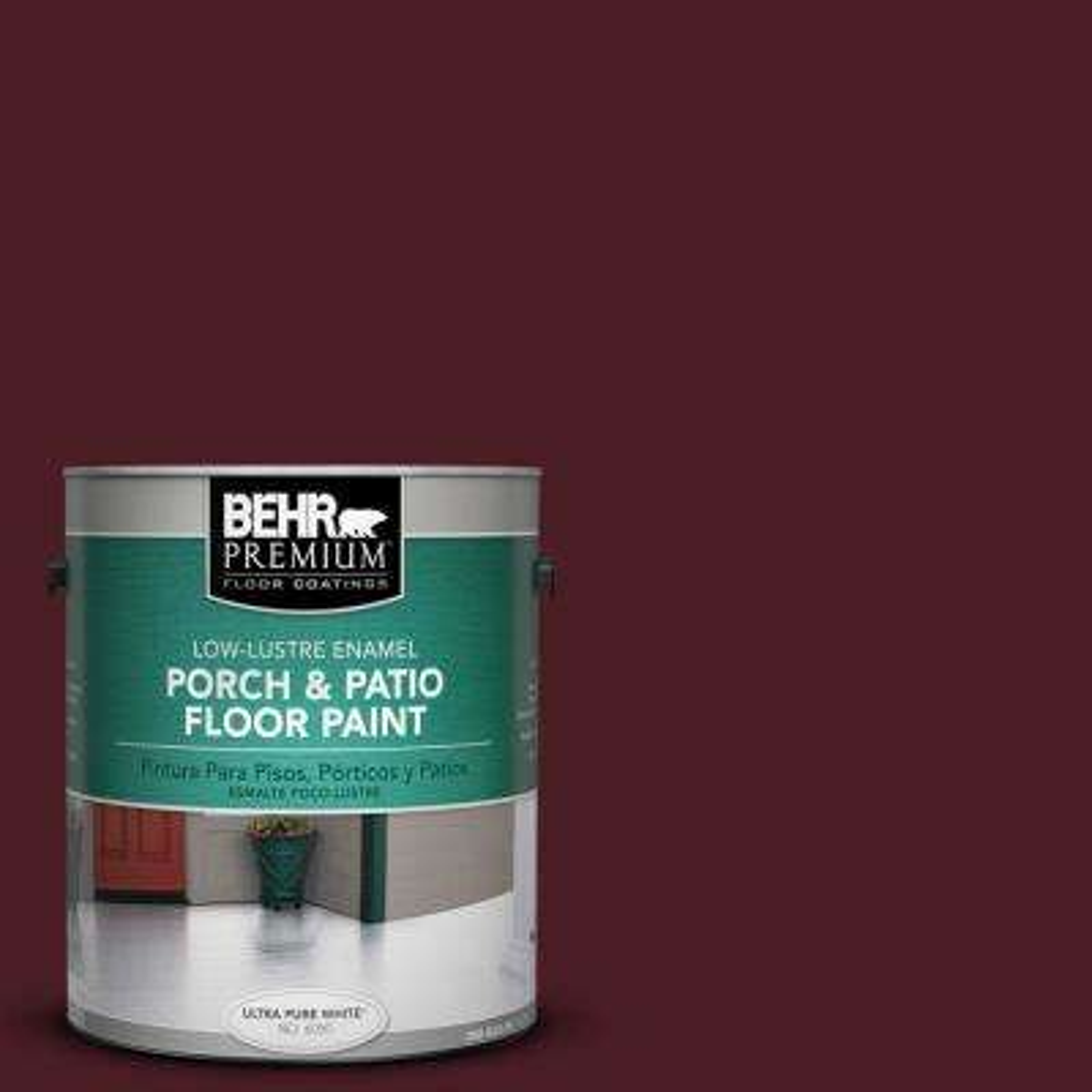 1 gal. #SC-106 Bordeaux Low-Luster Porch and Patio Floor Paint