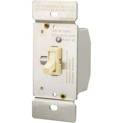 600-Watt 3-Way Incandescent Toggle Dimmer - Light Almond