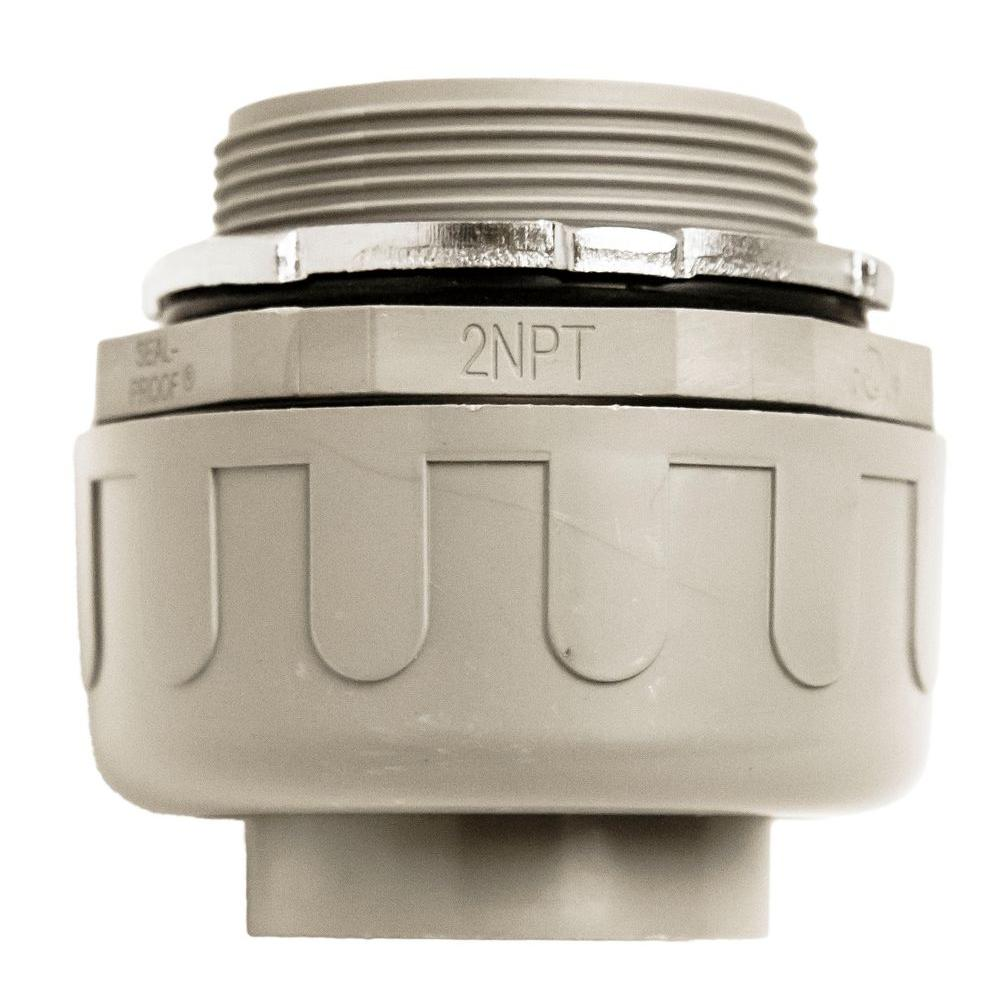 Southwire 2 in. Liquidtight NM Straight PVC Conduit Fitting Connector