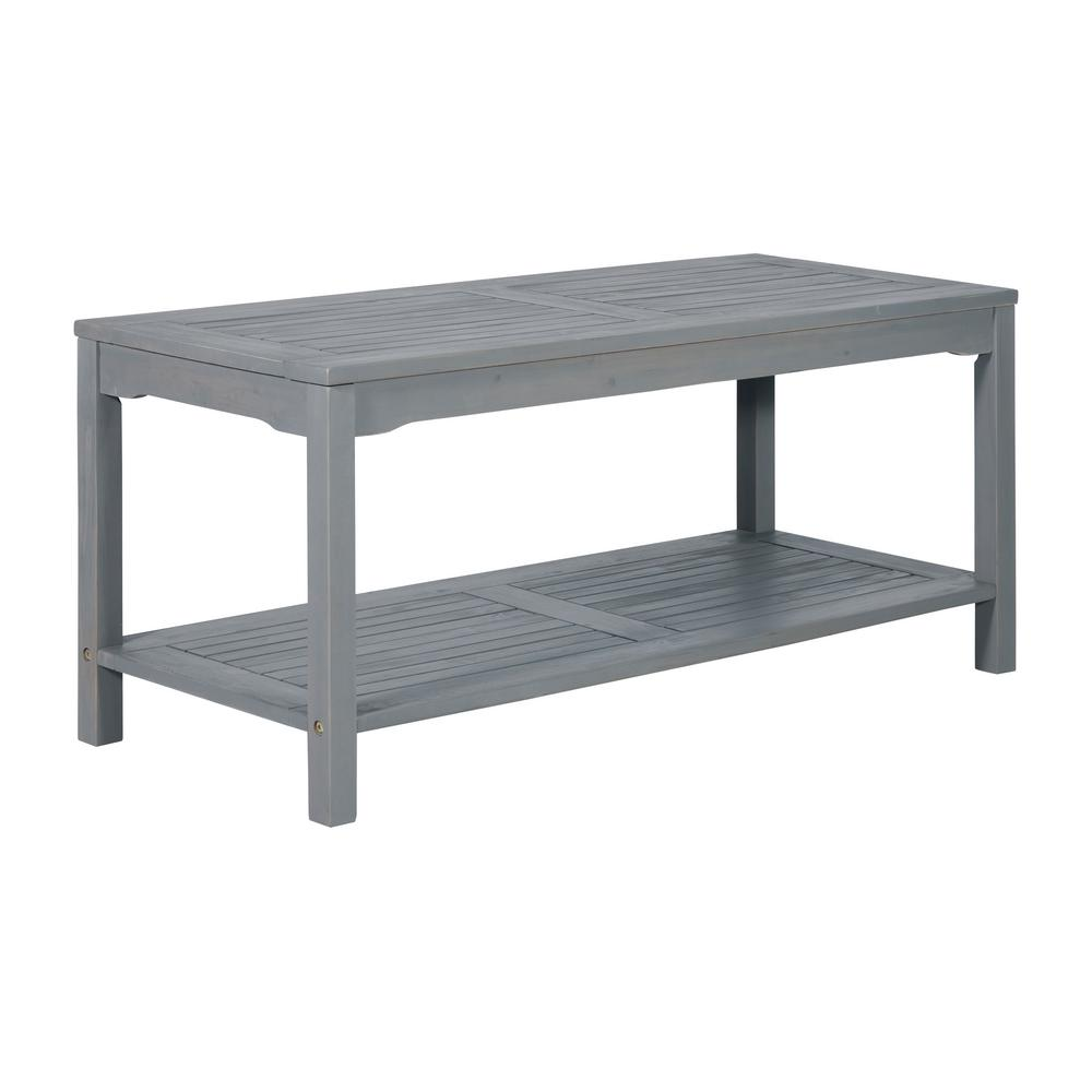 Walker Edison Furniture Company Boardwalk Grey Wash Acacia