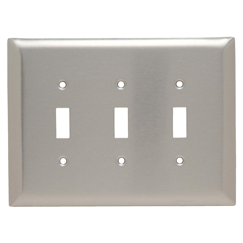 Jumbo Switch Plates Wall The Home Depot Light Switches In A Mobile Electrical Diy Chatroom 302 Series 3 Gang Toggle Plate Stainless Steel
