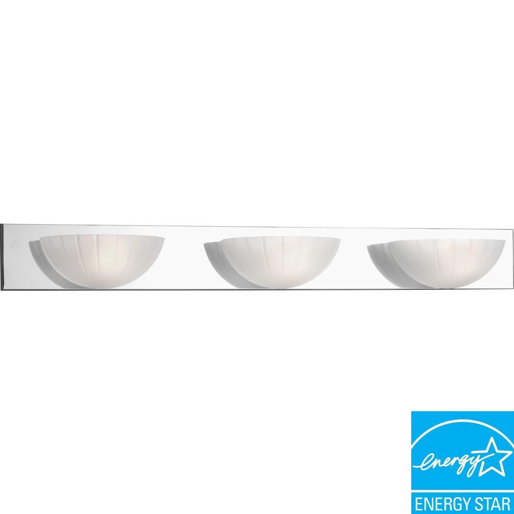 Progress Lighting Chrome 3-light Fluorescent Vanity Fixture-DISCONTINUED