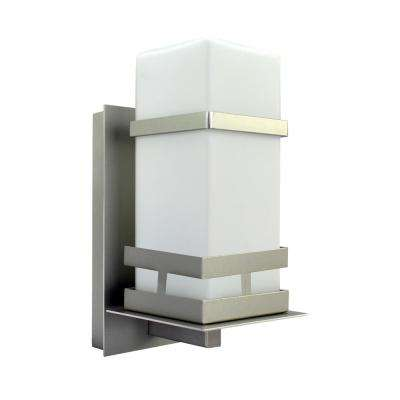 1-Light Brushed Nickel Wall Lantern